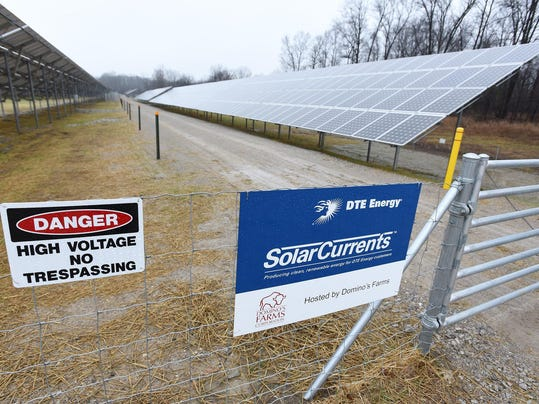 DTE Energy solar panel array Renewable energy group launches Mich. ballot campaign - The Detroit News Renewable energy group launches Mich. ballot campaign - The Detroit News B99628041Z