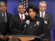 Phoenix Police Chief Jeri Williams announces an arrest