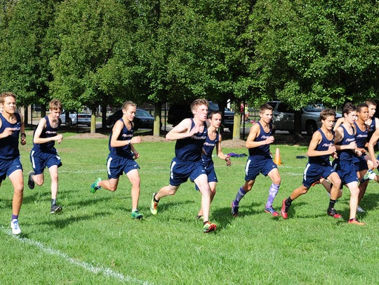 Franklin's cross country team is pictured during the