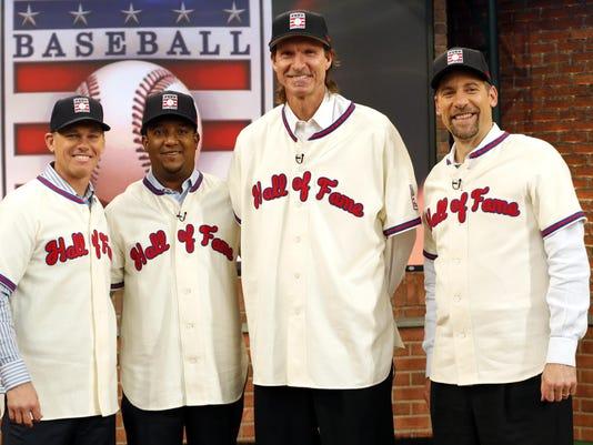 Randy Johnson, John Smoltz, Pedro Martinez, Craig Biggio