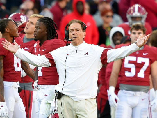 Alabama and Nick Saban will try to rebound from a loss to LSU.