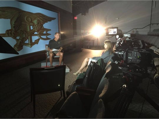 Filming interviews at the SEAL Heritage Center on the Little Creek Naval Amphibious Base in Virginia Beach, Virginia (SEAL training headquarters)