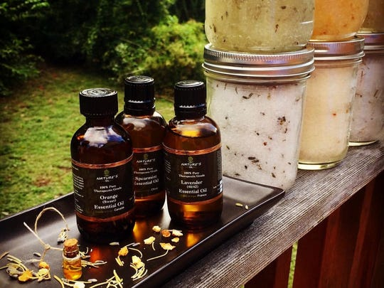Nyah's Naturals uses essential oils and high quality organic ingredients.