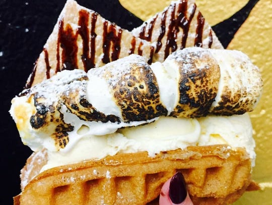 Bubble waffles are the new hot menu item at Whipped