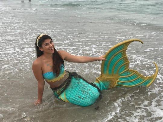 Alexandria Roque is a professional mermaid entertainer