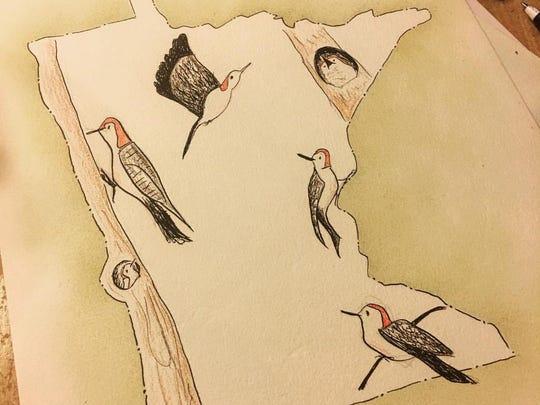 Art by Anne Buckvold will be on display at Minnesota Street Market in St. Joseph.