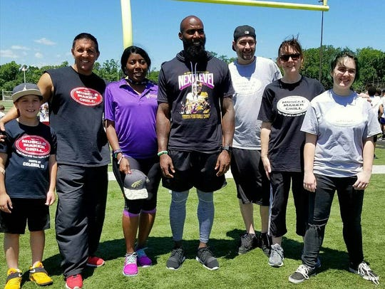 NFL safety and New Jersey native, Malcolm Jenkins poses