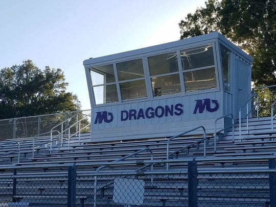 Mangham swapped its home and visitor stands, built