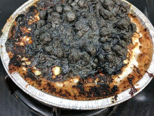 Jeni Von Buskirk's pies are so popular, even rejects, like this burned s'mores pie, attract customers.
