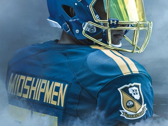 A look at the jerseys to be worn Saturday by the Navy