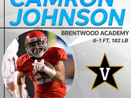 Brentwood Academy's Camron Johnson signed with Vanderbilt.
