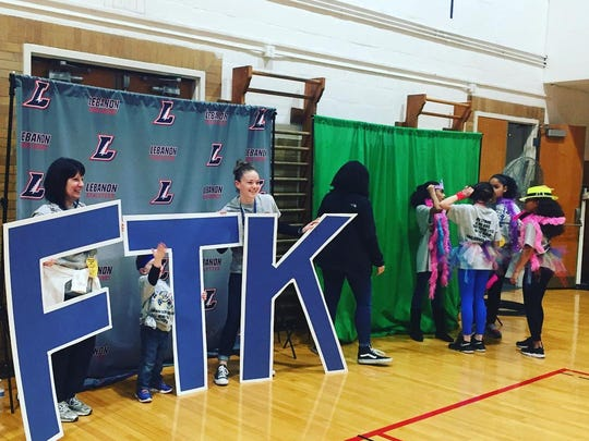 A scene from the Lebanon Mini-THON event Saturday. The Lebanon School District raised about $33,000 to fight childhood cancer this year.