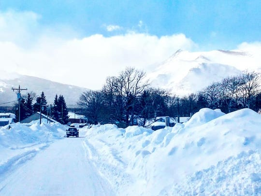 East Glacier Park set a record for February with 78 inches of snow.