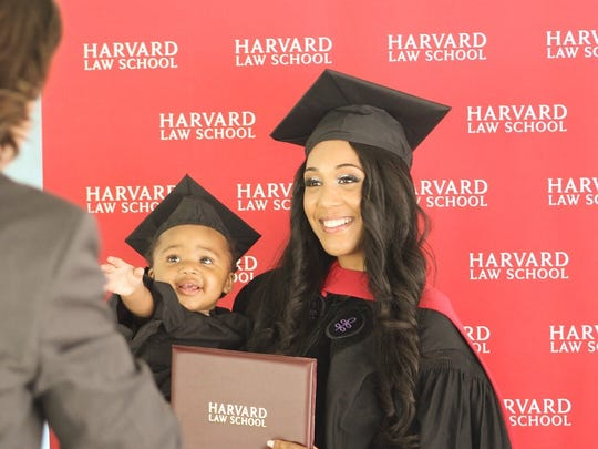 Briana Williams, a 24-year-old single mom, graduated