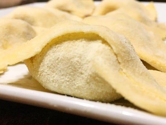 Lamb Agnolotti is made fresh by Valente's Italian Specialties in Haddonfield.