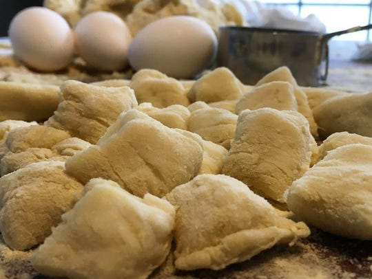 Gnocchi is prepared from scratch at Valente's Italian Specialties in Haddonfield.