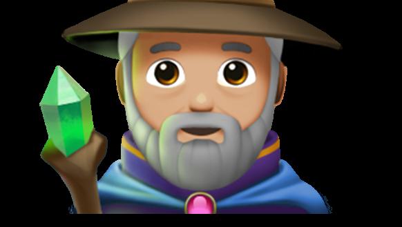 The wizard emoji.