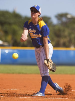 John Carroll Catholic softball pitcher Ashley Montoya leads the Golden Rams with a .500 average and 39 RBIs.