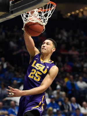 LSU Tigers forward Ben Simmons (25) is still considered the top pick in the upcoming draft.