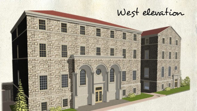 Artist's rendering of the new $11.5 million seminary building at the Athenaeum of Ohio.