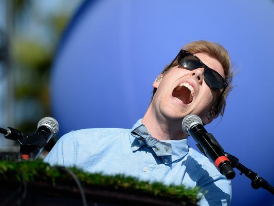 Andrew McMahon of Andrew McMahon in the Wilderness performs onstage during day 2 of the 2015 Coachella Valley Music & Arts Festival.