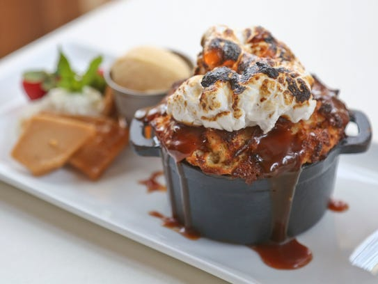 The marshmallow and toffee bread pudding from Varanese