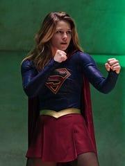 Supergirl (Melissa Benoist) is ready to fight on CBS'