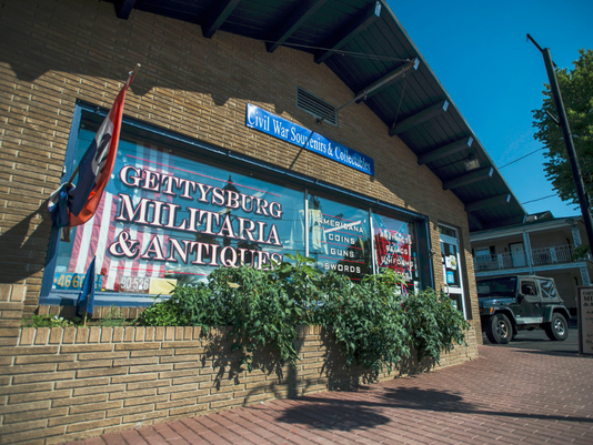 Gettysburg Militaria and Antiques is located on Steinwehr Avenue in downtown Gettysburg.