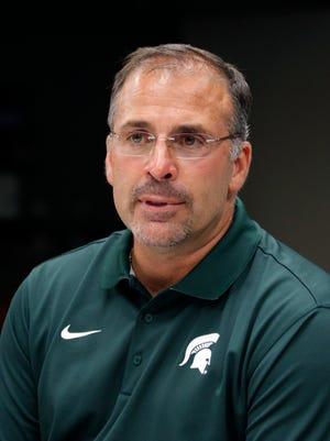 Michigan State defensive coordinator Pat Narduzzi