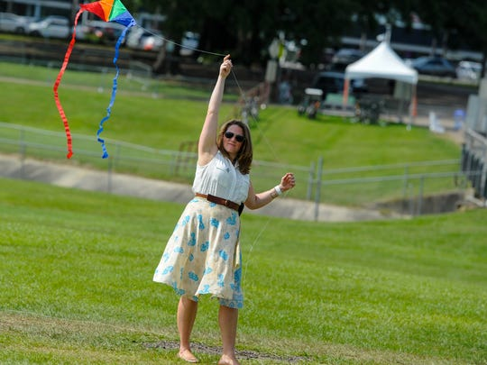 """Elizabeth Brooks at The second annual """"Party in the Park"""",  a fundraising festival which incorporates music, food, arts & crafts, and fun family-friendly activities to highlight the beauty of the new central park."""