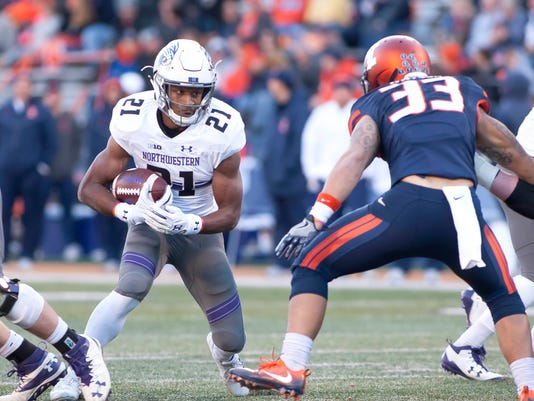 NCAA Football: Northwestern at Illinois