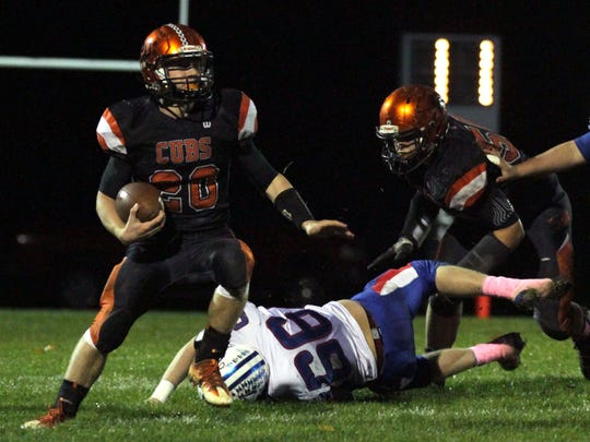 Jackson Hauger was one of two 1,000-yard backs for Lucas.