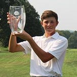 Novi's Ben Smith, who will be a junior at Detroit Catholic Central High, shot a 2-under three-round total of 71-70-73-214 to capture his first American Junior Golf Association event, the PDQ / Philadelphia Runner Junior, held Aug. 31-Sept. 2 at Saucon Valley Country Club in Bethlehem, Pa. Will Dickson (Providence, R.I.) and Aman Gupta (Concord, N.C.) were tied for second two shots back at 216. Smith, who had 17 pars during his final round 1-over 73, earned his third top five AJGA finish of the season. The Area Boys Golfer of the Year also led CC to the MHSAA Division 1 championship in June.