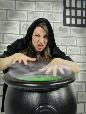 Children will be entertained by the Evil Sorceress, played by Marta Knodle, at the Children's Museum of Fond du Lac Spooktacular.