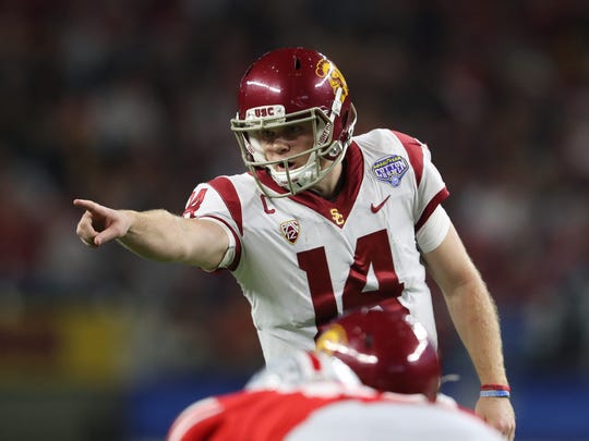 Southern California quarterback Sam Darnold could be the top pick in the draft.