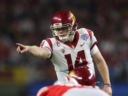 Southern California quarterback Sam Darnold could be