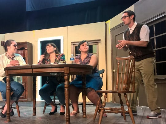 """Members of the EBBE rehearse for """"Murder for Dummies."""""""