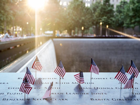 World Trade Memorial Displays 2,983 Flags On Victims Names For July 4th Holiday