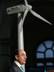 A 2007 photo shows Jose Ignacio Sanchez Galan, chief executive officer president of Spanish energy company Iberdrola, speaking after starting the day's trading in Iberdrola renewables in Madrid.