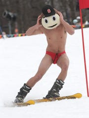 Many people participate in the Snow Trail's Chippendale and Bikini race for the resort's Ski Carnival every year.