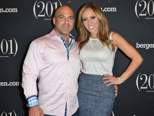 Joe Gorga and Melissa Gorga (RHONJ) at a (201) Magazine