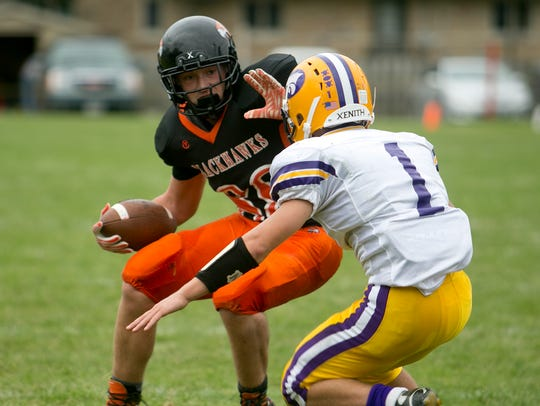 Port Edwards senior Ethan Saylor switched from receiver