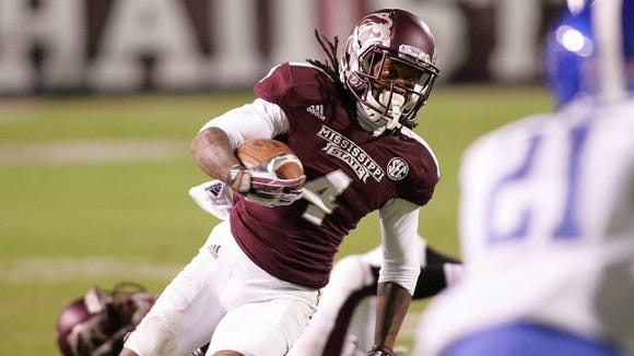 Mississippi State's Jameon Lewis threw, caught, and ran for a touchdown for the second time this year in Mississippi State's 28-22 win over Kentucky.