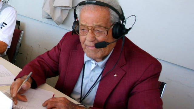 """Funeral services for Jack Cristil, the former """"Voice of the Bulldogs"""", will be held on Sept. 10."""