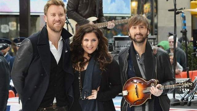 Charles Kelley, Hillary Scott, Dave Haywood of Lady Antebellum perform a Veteran's Day Concert on NBC's 'Today' last week. The group will play the 2014 Delaware State Fair, it was announced Friday.
