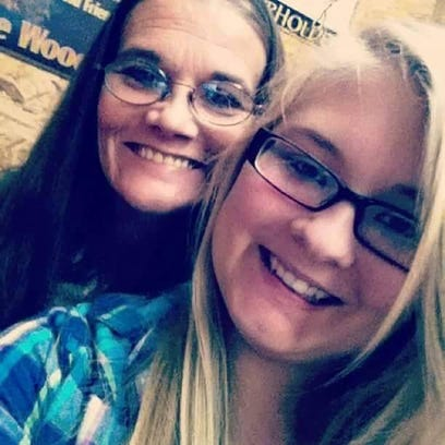 Andrea Carver (left), with her daughter, Hannah Gilley,