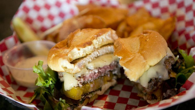The Farmers Daughter burger, which was the burger of the week on June 16 at Jennings & Co. Brew Pub and Eatery in Wisconsin Rapids.