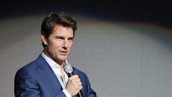 Tom Cruise speaks onstage during  CinemaCon 2018.