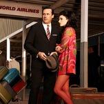 Don Draper and Megan Draper in a shot from Season 7 of 'Mad Men.'
