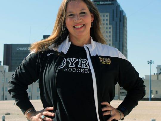 Byrd girls soccer coach Lisa Levermann